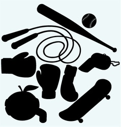 Set sporting goods vector