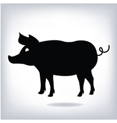 Silhouette of pig isolated on white background pig vector image