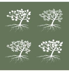 Simple trees Environmental symbol tree vector