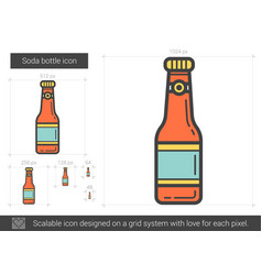 Soda bottle line icon vector