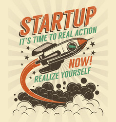 startup poster vector image