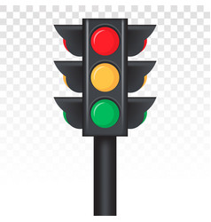 Stoplight traffic control light sign icon vector
