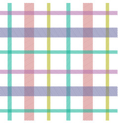 striped tartan plaid style colorful seamless vector image