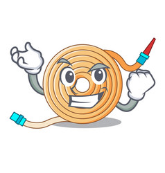 Successful garden water hose cartoon vector