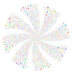 Sun fireworks swirl rotation vector