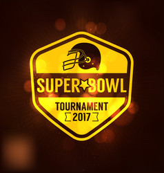 super bowl tournament logo sport vector image