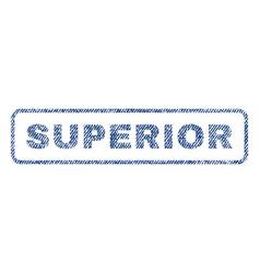 Superior textile stamp vector
