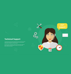 Technical support banner vector
