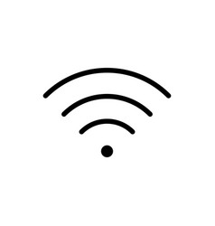 Thin line wi-fi wireless icon vector