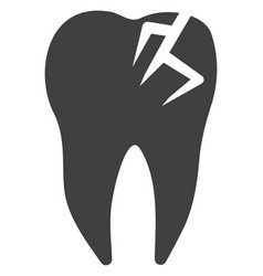 Tooth fracture icon vector