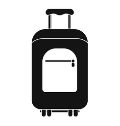 travel summer bag icon simple style vector image