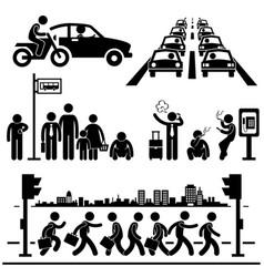 urban city life metropolitan hectic street vector image