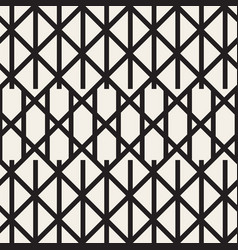 Zigzag lines geometric seamless pattern vector