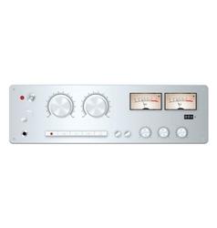 Analog audio device panel vector image vector image