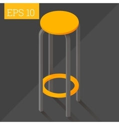 bar chair isometric vector image vector image