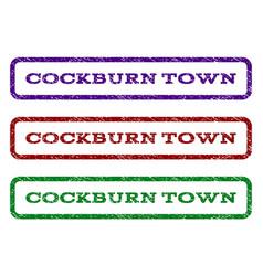 cockburn town watermark stamp vector image