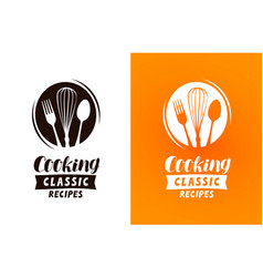 cooking logo or label food cuisine concept vector image vector image