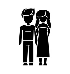 couple in love - young icon vector image