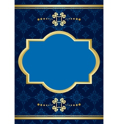card with blue pattern vector image