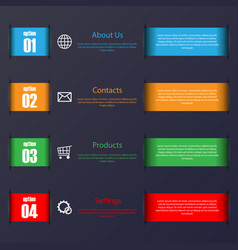 infographic stripes set vector image vector image