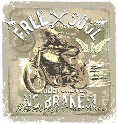 motorcycle road racer vector image vector image