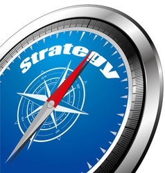 strategy compass vector image vector image