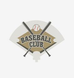 baseball club logo badge or symbol design concept vector image