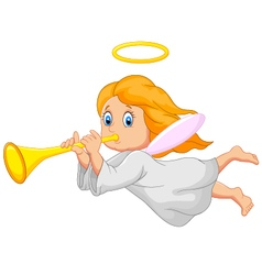 Cartoon cute angel vector image