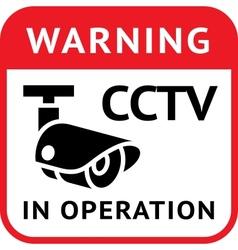 Cctv warning symbol vector