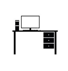 desktop computer system vector image