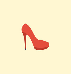 flat icon stiletto element of vector image