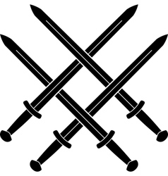 knot from medieval swords vector image vector image