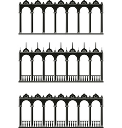 silhouettes of gallery vector image vector image