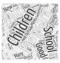 Successful after school programs word cloud vector