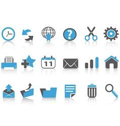 toolbar icons setblue series vector image