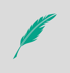 writing feather icon vector image vector image