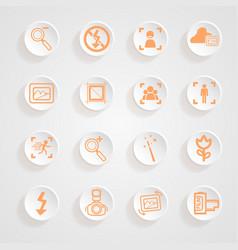 Camera functions menu icons set vector