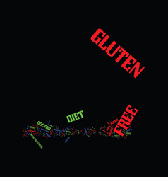 gluten free diet and you text background word vector image