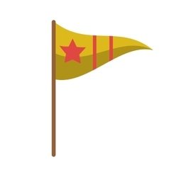 Isolated flag with star design vector