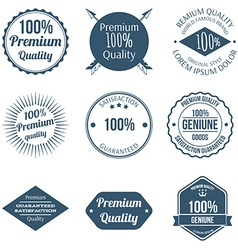 Set of Premium Quality Badges and Labels Design vector image