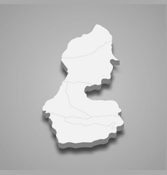 3d isometric map batman is a province turkey vector