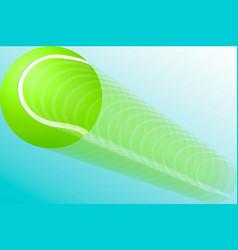 a tennis ball in flight eps10 vector image