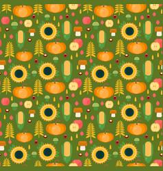 Autumn harvest seamless pattern vector
