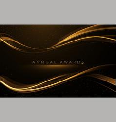 Award nomination ceremony luxury background vector