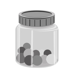 Balls colors in glass bottle vector