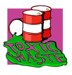 Barrels of toxic waste vector