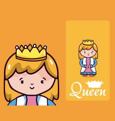 Beautiful queen cartoon vector