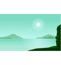 Beautilful landscape of lake and mountain vector