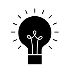 bulb light isolated icon vector image