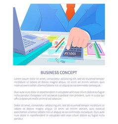 business concept poster text vector image
